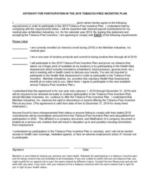 thumbnail of Attachment_Tobacco Free Incentive Form 2019 — Fillable