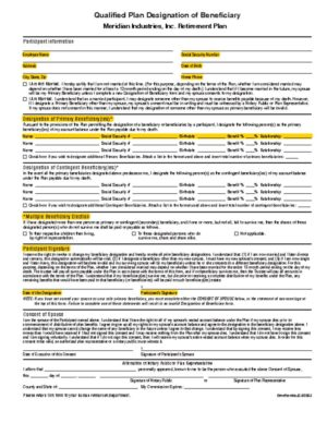 thumbnail of 401k Beneficiary Form