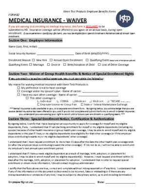thumbnail of KTP Benefits Forms – FORM B2 – Medical Waiver